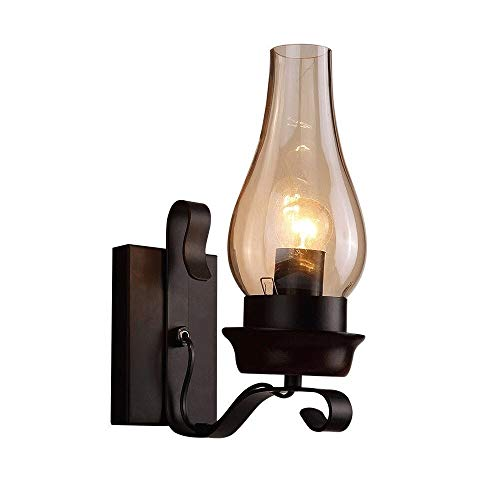 Uook Vintage Industrial Kerosene Lamp Waterproof E27 Wall Light Aisle Entrance Decor Affordable Oil Rub Bronze Wall Sconce Embedded Lighting for Villa, Bar, Restaurants, Club Wall Sconce One-Light