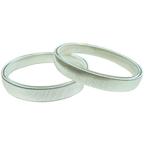 Silver Colored Elasticized Sleeve Garters (2 Pack)