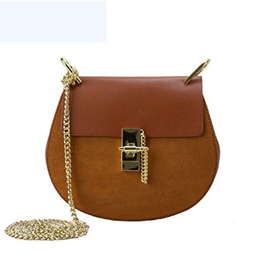 sac à rond véritable chaîne sac noir rouge couleur cuir petit 3 en unie main femme TTr8dq