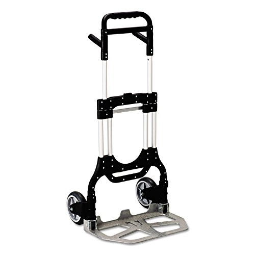 (Safco 4055NC Stow-Away Heavy-Duty Hand Truck 500lb Capacity 23w x 24d x 50h)