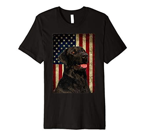 (Black Lab TShirt Gift USA Flag Lab Owner Hunting Dog Shirt)