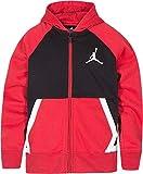 Jordan Boy's Diamond Fleece Full Zip Hoodie (L, Gym Red)