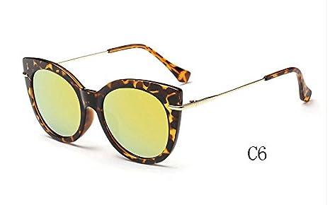 TL-Sunglasses Occhio di gatto occhiali da sole donne di sfumature a specchio occhiali da sole Occhiali da sole candy UV400,025 C4
