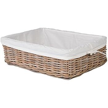Amazon.com: Cesta de mimbre rectangular, cesta de ...