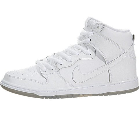 Nike Men's Dunk High Pro SB White/White/Lt Base Grey Skate S