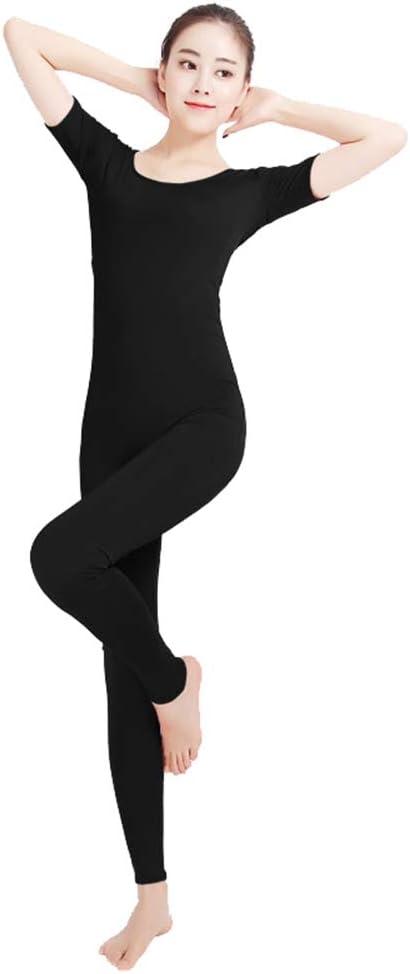 SK Studio Women Stretch Tank Unitard Dance Yoga Cosplay Short Sleeve One Piece Bodysuits Jumpsuits