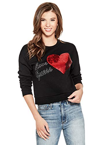 GUESS Factory Women's Sequin Logo Pullover
