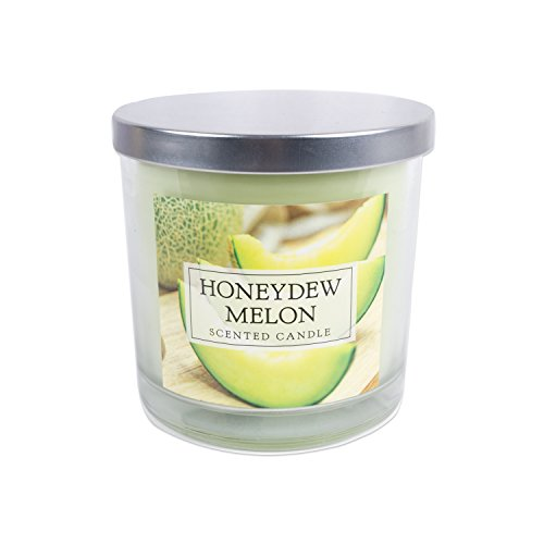 Home Traditions 3-Wick Evenly Burning Highly Scented 4x4 Large Jar Candle with 45+ Hour Burn Time (14.5 Oz) - Honey Dew Melon Scent