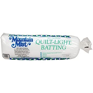 Mountain Mist Batting 221MM Mountain Mist Quilt-Light Polyester Batting, Twin 72-inch-by-90-inch