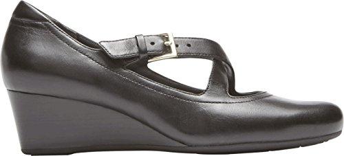 Rockport - Damen Tm45Mw Luxe Zwei Riemen Schuhe Black Leathe