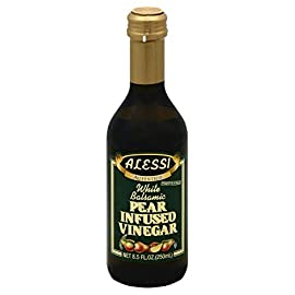 Alessi Vinegar Balsamic Pear, 8.5 oz 130 8. 5Oz Alessi Pear Balsamic Vinegar Made from a blend of Italian white wine vinegar and the musts of white grapes, this white balsamic vinegar has been inf