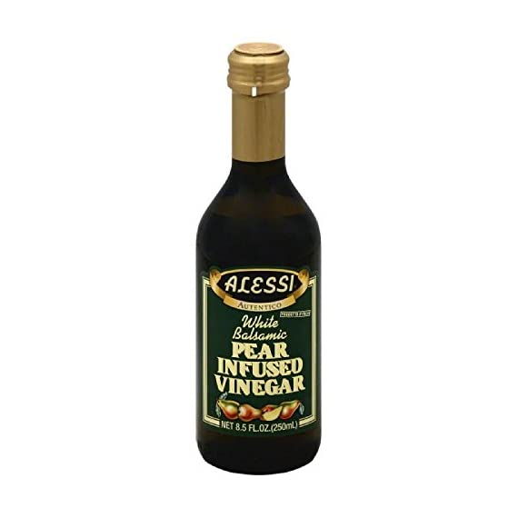 Alessi vinegar balsamic pear, 8. 5 oz 1 no artificial ingredients, does not contain refined sugar, alessi white balsamic vinegar, pear