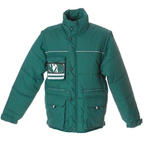 Imbottito Uomo Chemagliette Staccabili Giaccone Da Maniche Verde Con Scotland Lavoro Giubbetto Jrc Xw7Tq