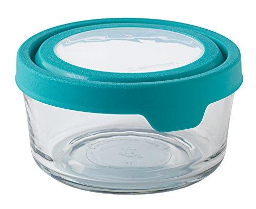Anchor Hocking 4 Cup True Seal Round Food Storage, Teal