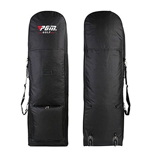 PGM Golf Club Travel Bag Cover ---- Black with Wheels, Nylon by PGM