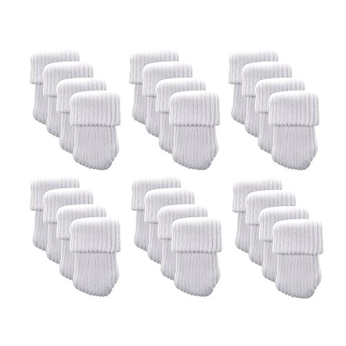 Meta-U- Knitting Wool Furniture Socks - Chair Leg Cover-Floor Protector-Reduce Noise and Scratches- Wearable and Washable- For Table Chair Dresser Closet- 24 Pcs (white) - Ash Room Loveseat Living