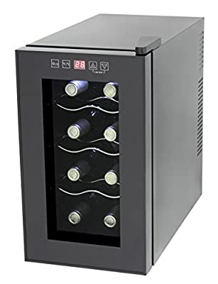 HOMEIMAGE thermo electric wine cooler for 8 Bottles ~ New 2015¾ model - HI-8CA