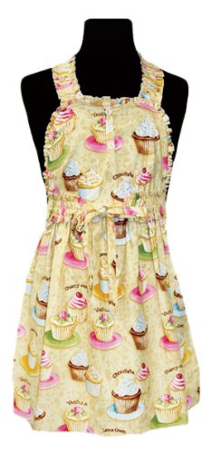 asd Living Baby Delilah Children's Apron with Vintage Cupcake Design