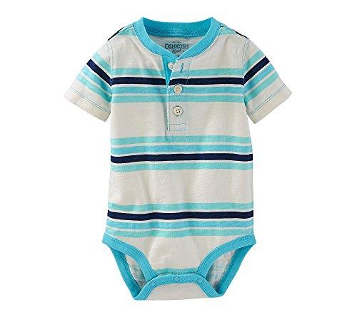 OshKosh B'Gosh Baby Boys' Striped Henley Bodysuit 24 Months