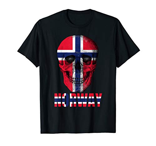 Norway Skull T-shirt Norwegian Fan Costume ()