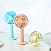 Air Cooling Fan Mini USB Charging Fan Magnetic Fan Back Makeup Mirror 3 Gear Wind Electric Fan Outdoor Personal Fans Color : Blue