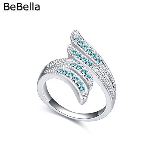 Cherryn 5 colors leaf shape made with womens engagement rings fashion ring