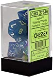 Chessex Festive Polyhedral Waterlily - White 7-Die Set