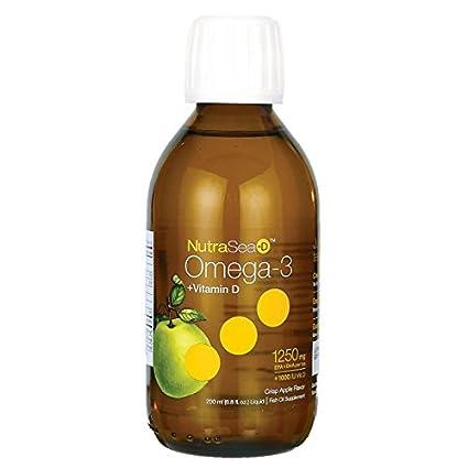 NutraSea + D, Omega-3 + Vitamina D, crujiente con sabor a manzana