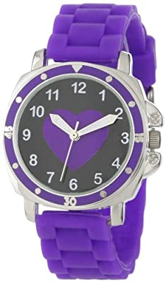 Frenzy Kids' FR302 Mood Dial Heart Analog Purple Jelly Watch