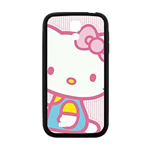 Happy Hello kitty Phone Case for samsung galaxy S4 Case