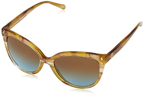 Michael Kors Women's Jan MK2045 55mm Yellow Floral/Amber Blue Gradient - Michael Kors Glasses Blue