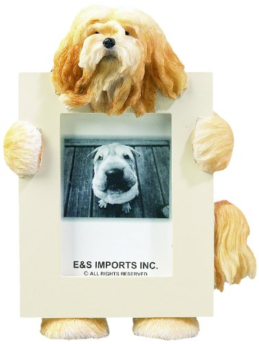 Lhasa Apso Frame (Lhasa Apso Picture Frame Holds Your Favorite 2.5 by 3.5 Inch Photo, Hand Painted Realistic Looking Lhasa Apso Stands 6 Inches Tall Holding Beautifully Crafted Frame, Unique and Special Lhasa Apso Gifts for Lhasa Apso Owners)