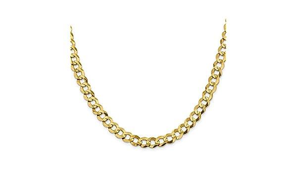 Collar de cadena cubana maciza de 8,3 mm y oro amarillo de 14 ...