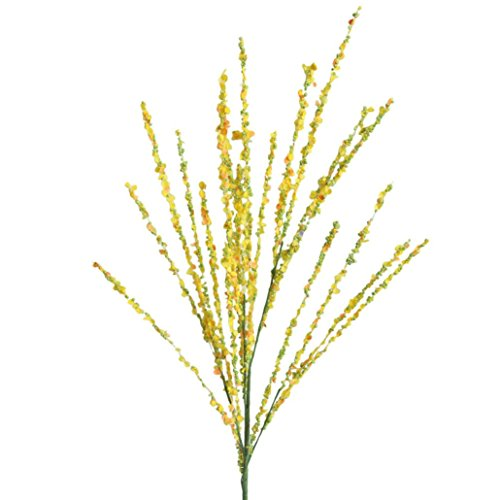 - LiPing Artificial Winter Jasmine Floral Flowers for Home Decor Wedding Flowers Accessories Make Bridal Hair Clips Headbands Dress (Yellow)