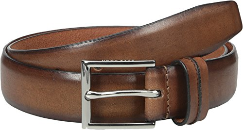 Cole Haan Men's 32mm Feather Edge Belt With Pinch Detail On Loop, British Tan, 32 (Mens British Tan Leather Belt compare prices)