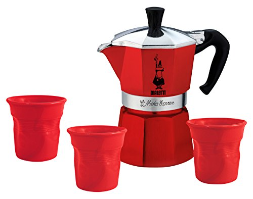 Bialetti 5540 universal Mocha Set, Red