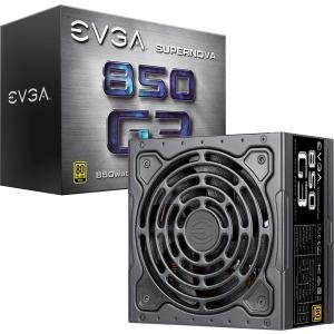 EVGA Supernova 850 G3, 80 Plus Gold 850W, Fully Modular, Eco Mode with New HDB Fan, 10 Year Warranty, Includes Power ON Self Tester, Compact 150mm Size, Power Supply ()