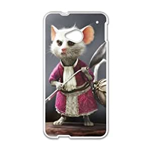 HTC One M7 Cell Phone Case White Disney Alice in Wonderland Character The Dormouse Tvvgx