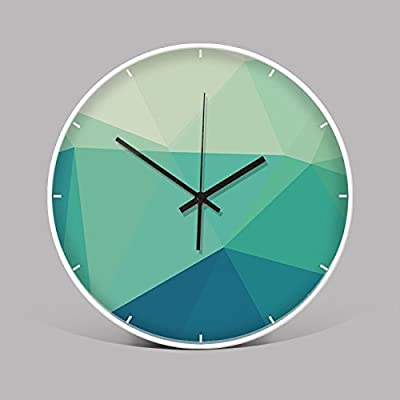 Wall Clock WuuLii Decor-Bedroom Art Quartz Clock Mute The Cell Wall Clock Modern Nordic Small Fresh in Table 12 inch,01