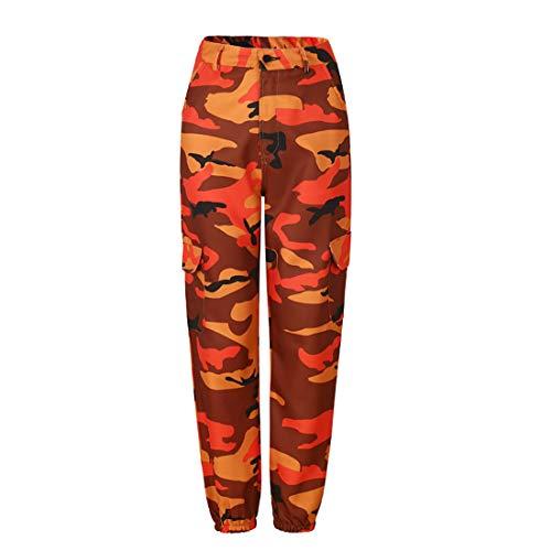Inlefen Pantalones de camuflaje sueltos para mujer Pantalones Harem de baile hip hop pantalones casuales Fitness yoga...
