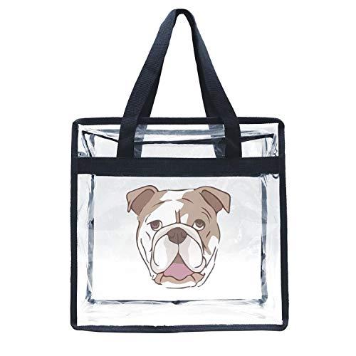 Eoyles gy Clear Bag Stadium Approved 12 x 6 x 12 Crossbody Transparent Purse Shoulder Handbag for Men Women Dog 3D Xpres Best Friends Originals 1999 Zippered Security Bag