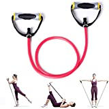 KAMACHI Workout Resistance Bands with Handles Pro Superior Non Slip Grip, Exercise Band, Exercise Tubing with Handles, 3 Strength Level Options: Heavy (Black) & Medium (BLue) & Light (Red)