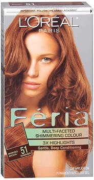 L'Oreal Feria Multi-Faceted Shimmering Colour 3X Highlights, Level 3 Permanent, Bronzed Brown/Warmer 51 (Pack of 3)