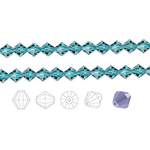 Preciosa Czech Crystal Beads Indicolite Faceted Bicone 8mm Package of 72