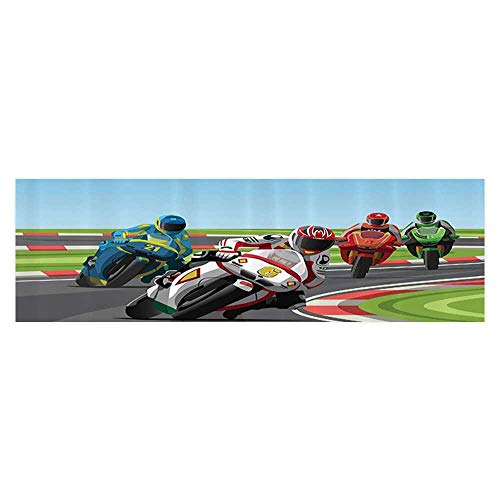 UHOO2018 Background Poster Professial Motorcycle Riders Racing in Champiship Public Road Work Fish Tank Wall Decorations Sticker 29.5