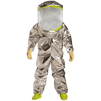 DuPont TK600TLY Tychem TK Encapsulated Level A Suit, Expanded Back, Front Entry, X-Large
