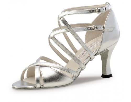 Werner Kern Women's Eva - 2 3/4'' (6.5 cm) Latin Heel, Silver Leather, 8 M US (5 UK) by Werner Kern