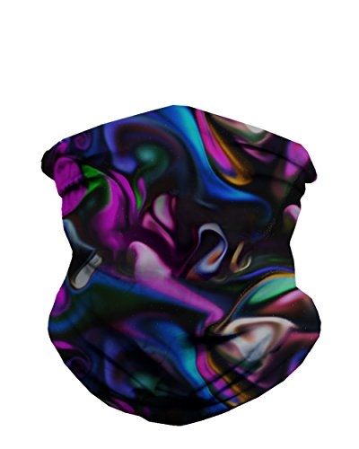 iHeartRaves Trippy Paint Party Multi-Functional Seamless Face Mask Bandana