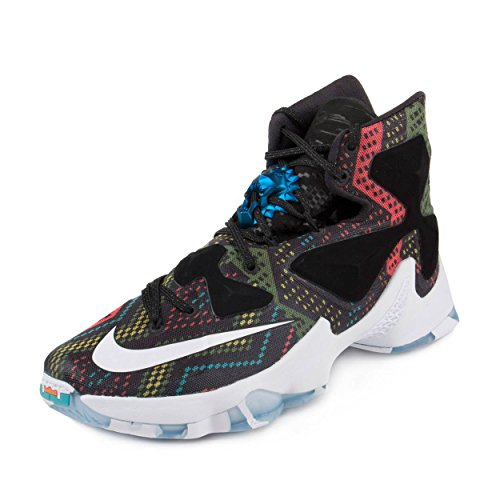 Nike Mens Lebron XIII BHM Multi-Color/White-Black Synthetic Size 12