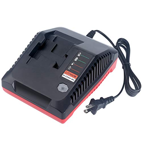 18v Multi Charger - Epowon 18-Volt Multi-Chemistry Battery Charger for Porter Cable PCXMVC Lithium Ion & NiCad NiMh Slide PC18B PC18B-2 PC18BL PC18BLX PCC489N Cordless Power Tool Battery